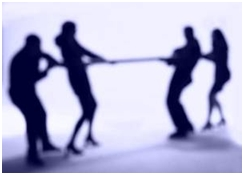 Tug of war - personality conflict